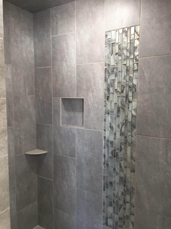 finished tiled shower