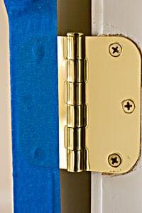 covering hinge to paint interior door