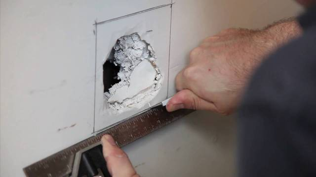 How to Fix a Hole in the Wall  EZ-Hang Door