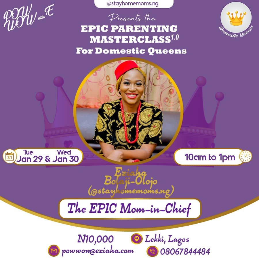 Hey EPIC Stay at Home mom, we hosting a parenting MASTERCLASS just