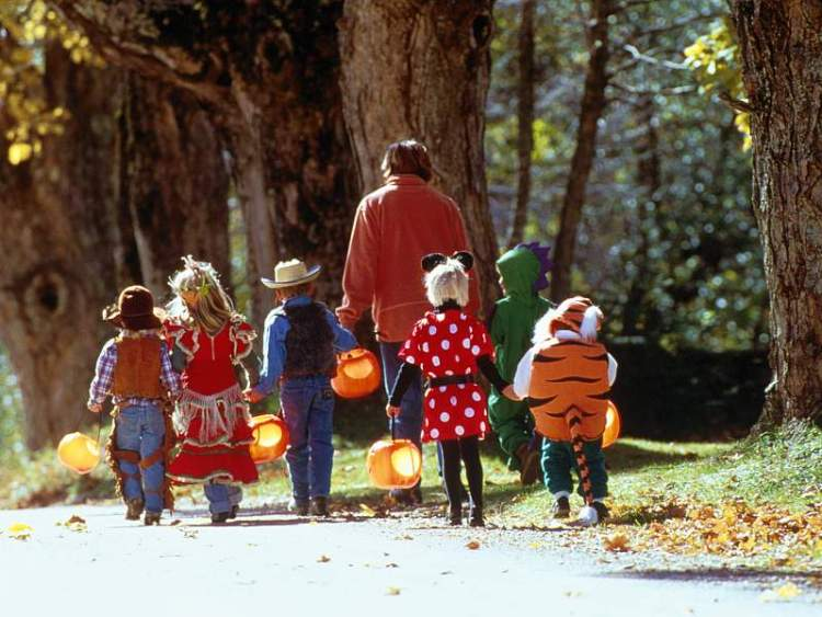 Trick-or-Treating with parents
