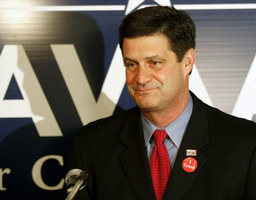 U.S. Rep. Chip Cravaack, R Minn. concedes the race to Rick Nolan at his headquarters in Hinckley, Minn., Wednesday, Nov. 7, 2012. (AP Photo/Andy King)