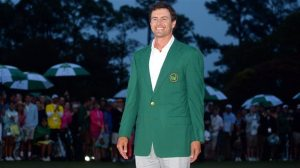 Adam Scott sports the Green Jacket