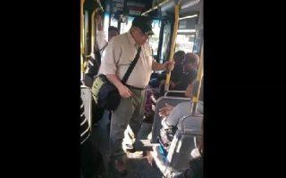 racist on bus