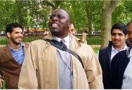 preacher in park