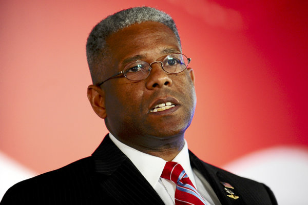 Former U.S. Congressman Allen West attends the Faith and Freedom Coalition Road to Majority Conference in Washington, June 14, 2013. REUTERS/Mary F. Calvert (UNITED STATES - Tags: POLITICS RELIGION HEADSHOT) - RTX10NUH