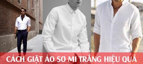 Cách giặt áo sơ mi trắng hiệu quả