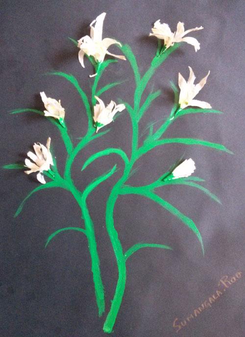garlic peel art
