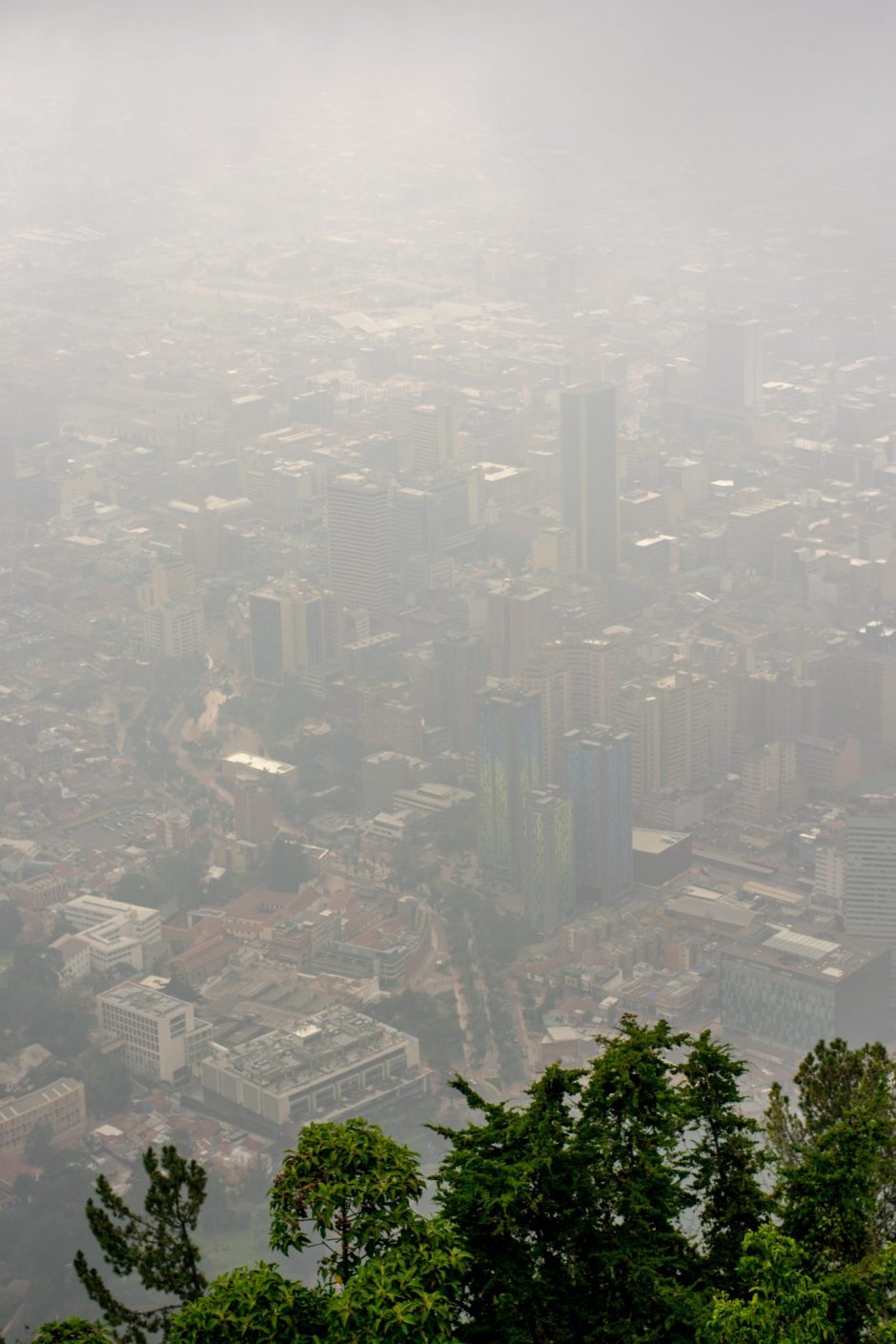 Cloudy vision at Monserrate. Bogota, Colombia
