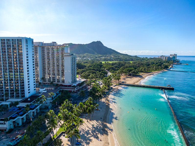 Diamond Head, Hawaii Drone