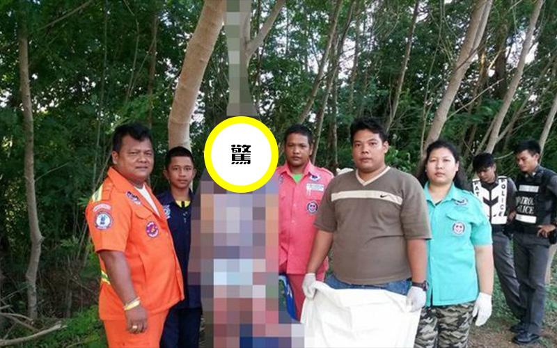 先來個團體照中國女遊客「上吊掛樹幹」死相詭異嚇壞村民 泰國警察到場竟然先合照...