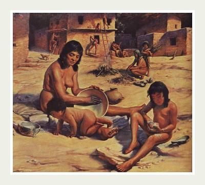 Индейцы имели большие семьи по 5-7 детей в семье.
