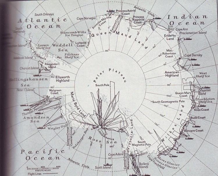 Карта экспедиции адмирала Берда
