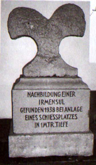 Ирминсул установленный в комплексе Экстернштайн