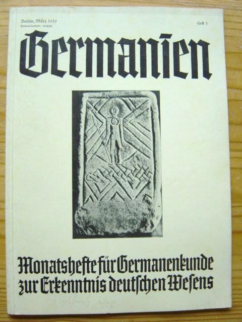 Ежемесячные журналы для немецкого клиента на знание немецкого характера, Родовой Heritage Foundation Publishing, 1939, официальный орган Аненербе
