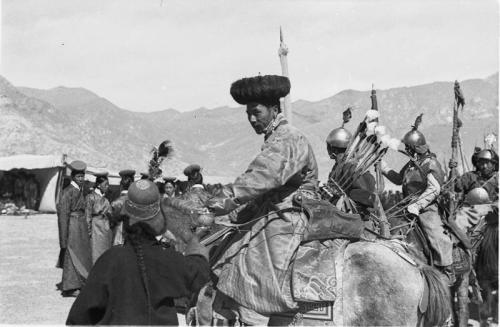 Tibetexpedition, Neujahrsparade, Berittener Bogenschütze