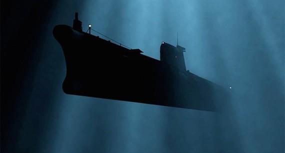 погружение немецкой подводной лодки