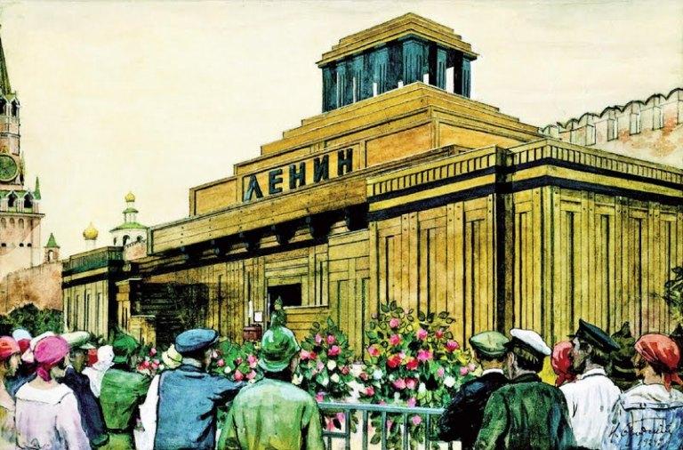 Мавзолей Ленина Зиккурат в центре Москвы