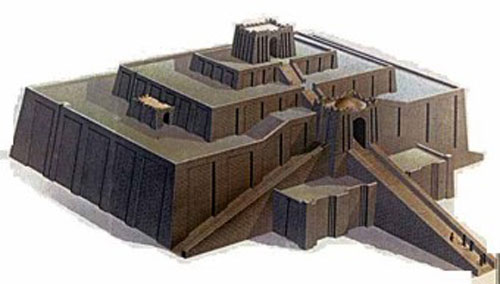 Зиккурат в Уре (Месопотамия)