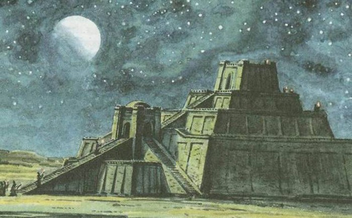 Мавзолей зиккурат Древний Вавилон