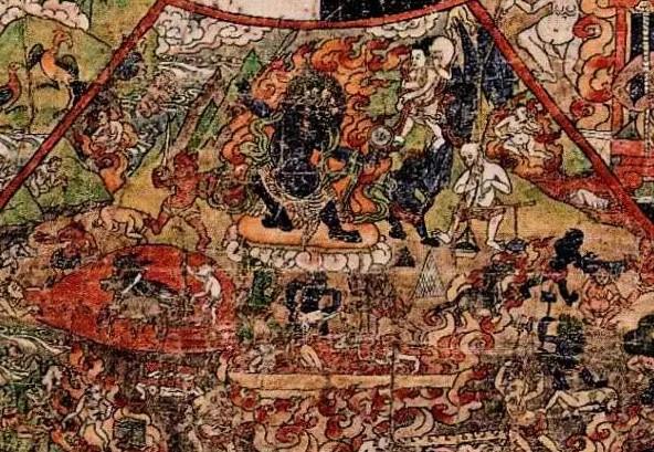 В буддизме Ад — место пребывания для существ, практикующих злобу и ненависть. Существует восемь уровней адов (на каждом уровне в центре горячий ад