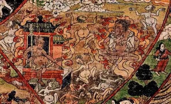 ТИбетская тханка голодные духи