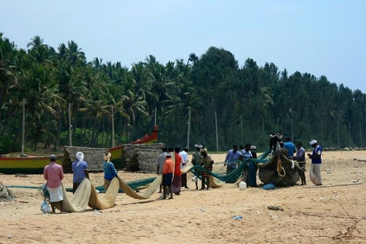 Деревня рыбаков в Керале