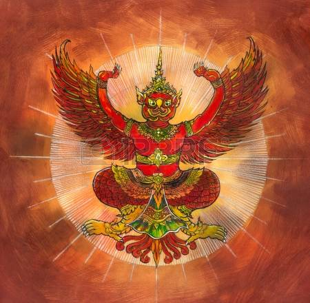 Гаруда, получеловек-полуптица. Ездовые птицы индийских божеств