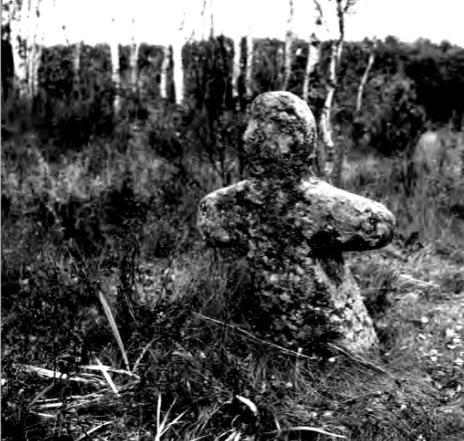 Долгиновский идол в месте первоначального обнаружения. Фото Георгия Лихторовича