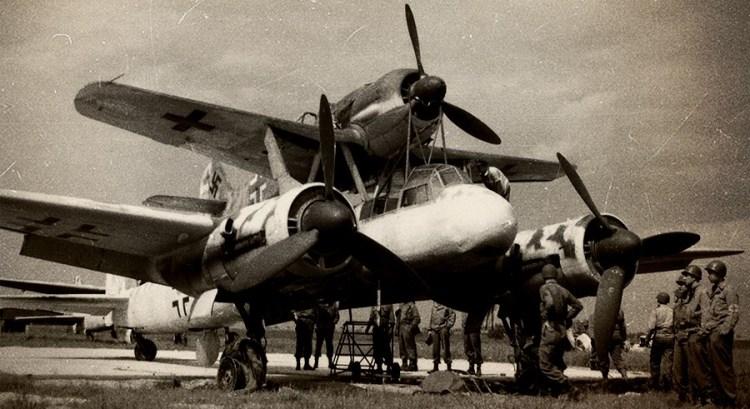 Ранняя модификация сцепки – Bf 109F-4 и Ju 88A-4, начало 1944 г.