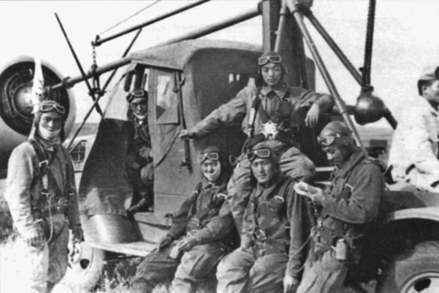 японские летчики