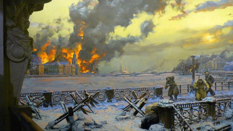 горит Ленинград