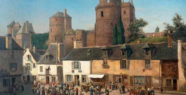 средневековый город европы