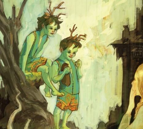 зеленые дети эльфы