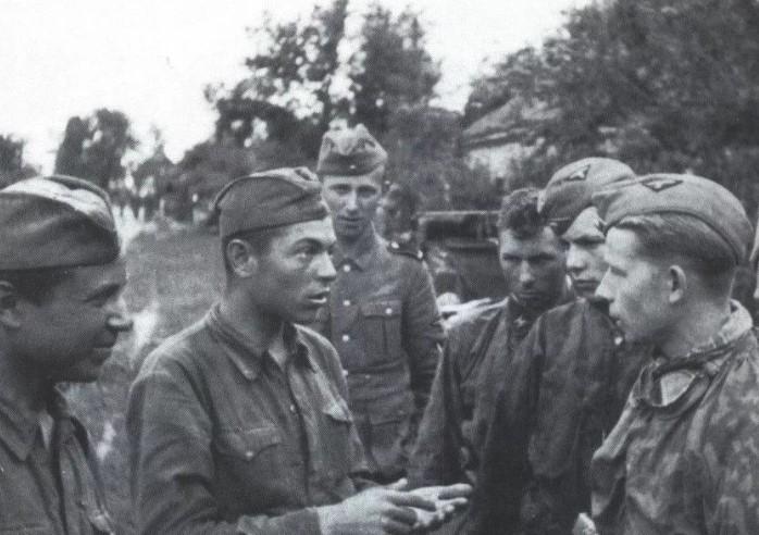 допрос пленного солдата красной армии