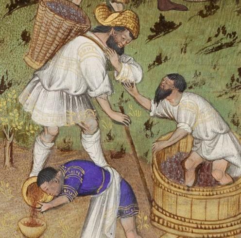сбор вина в средние века