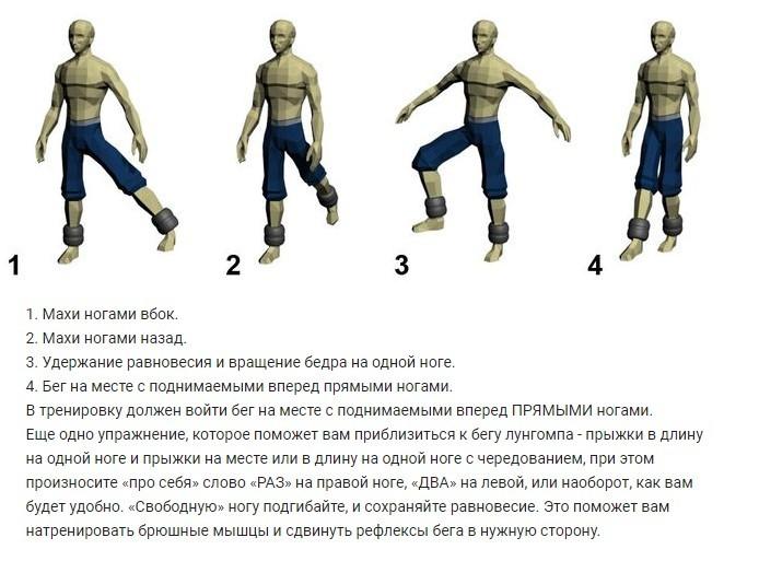 тренировка ног лунгомпа