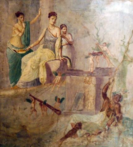 """Во многих домах Помпей сохранились фрески второго """"стиля"""""""