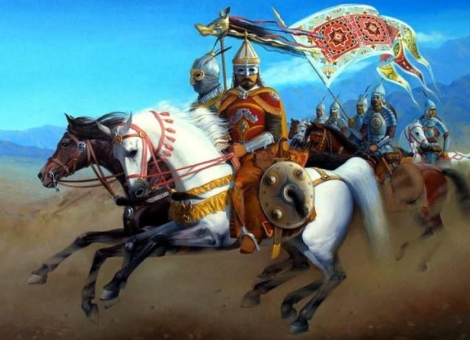 Тамерлан на коне