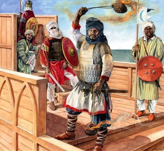 Монголо-татары и греческий огонь