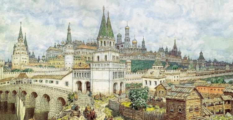 Московский Кремль 17 века