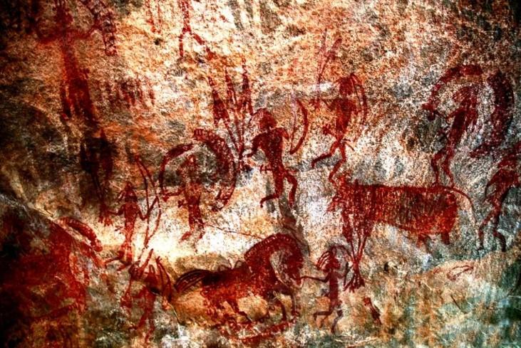 Скальные жилища Бхимбетка. Загадки древней Индии