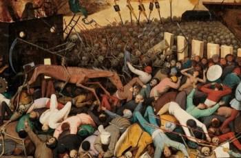 Эпидемия чумы в XIV веке. Погибали люди, лошади и скот.