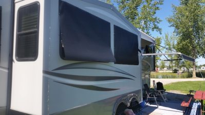 RV Shades for Crank Out Windows