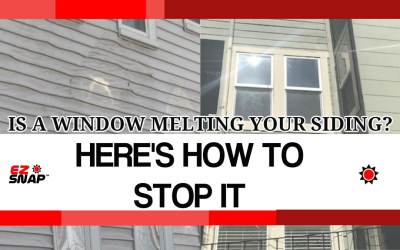 Melting vinyl siding