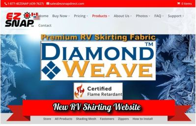 New EZ Snap RV Skirting Website