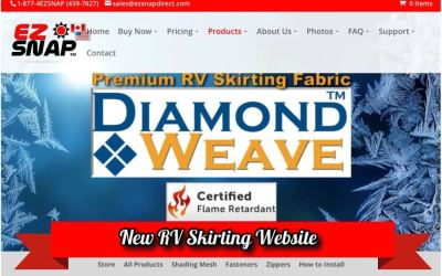 New RV Skirting Website