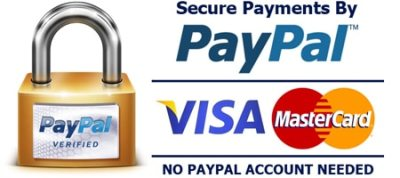Secure Credit Card Payments by Visa & MasterCard