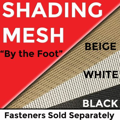 Solar Shade Mesh in Beige, White & Black