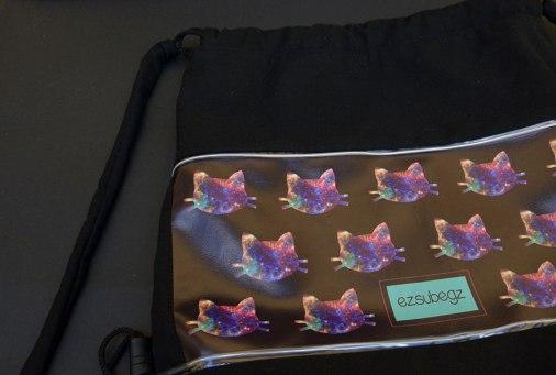 Galaxy Cat fesztivál táska, tornazsák - ezsubegz